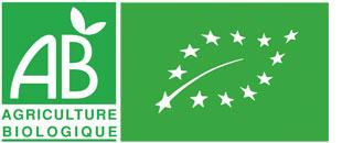 Logo AB. Tous nos produits sont issus de l'agriculture biologique.