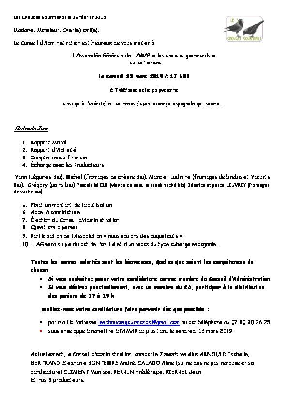 Apercu du PDF d'invitation à l'AG